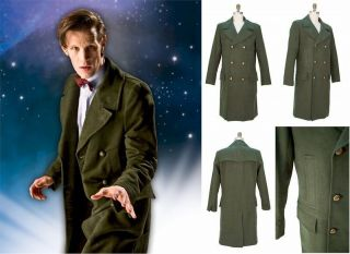 Official 11th Doctor Who Replica Green Coat/Jacket BNIP (NEW IN)