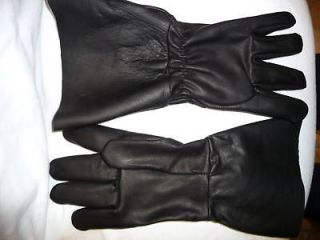 Newly listed #7998 Medium Leather Motorcycle Police LONG cuff gloves
