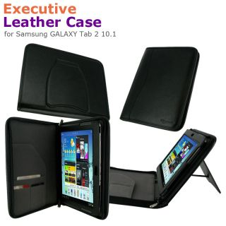 Executive Portfolio Leather Case Cover for Samsung GALAXY Tab 2 10.1
