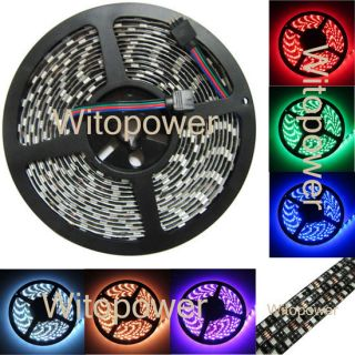 16FT 5050 RGB LED Strip 5M 300 Leds SMD Flash Flex light Waterproof