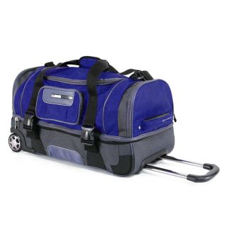 26 2 Section Rolling Duffel Bag Wheeled Luggage Travel Duffle Suitcase