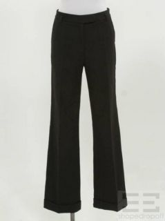Phillip Lim Black Cuffed Trouser Pants Size 2