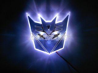 LED Transformers Autobot 3D Logo Emblem Badge Decal Car Sticker Light