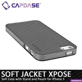 Jacket Xpose Case Cover iPhone 5 w Stand Screen Protector Black