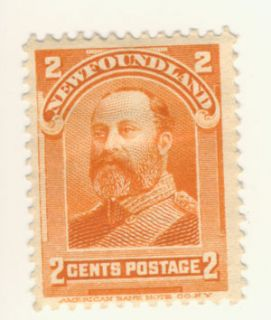 stamp scott 81 2 cents king edward vii condition mint hinged