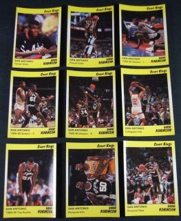 1990 Star Court Kings David Robinson SPURS #d/2,000 Basketball Set Nm