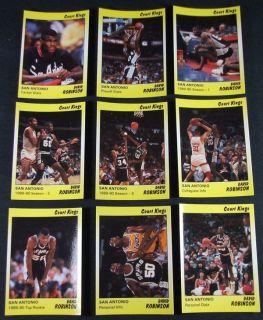 1990 Star Court Kings David Robinson SPURS #d/2,000 Basketball Set Nm