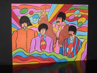 Beatles Yellow Submarine Original Cartoon Art by Patrick Owsley