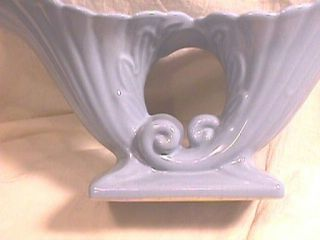 Abingdon Pottery Blue Double Cornucopia Planter