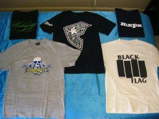 rock t shirts size small S Black Flag, MxPx, Travis Barker, Blink 182