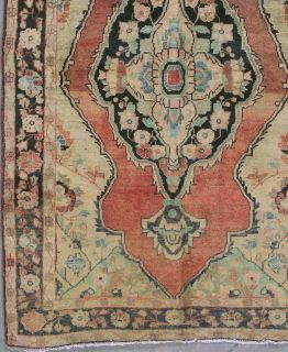 PERSIAN MAHAL ORIENTAL HAND KNOTTED WOOL AREA RUG CARPET WITH ABRASH
