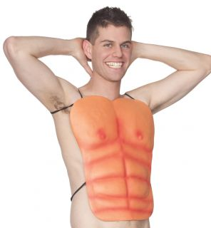 Muscle Chest 6 Pack ABS Eva Foam Tie on Adult Costume