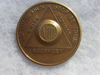 Vintage AA in Circle Anniversary 8 Year Recovery Chip, Token, Coin