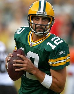 GREENBAY PACKER Reebok AARON RODGERS JERSEY #12