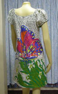 Cotton Boho Hippy Dashiki Dress US10 UK12