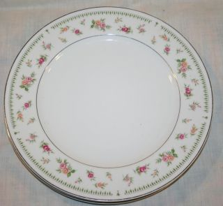 Abingdon Fine Porcelain China Japan Three Plates