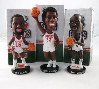 Kareem Abdul Jabbar Moncrief Lanier Bobblehead NBA Lot