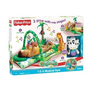 New Fisher Price Rainforest Activity Mat Musical Gym 1 2 3 Baby Tummy
