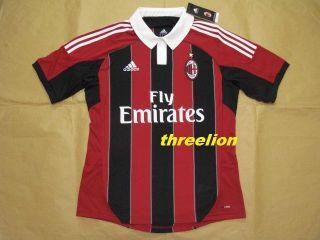 BNWT 2012 13 Adidas AC Milan Home Soccer Jersey Football Shirt Trikot