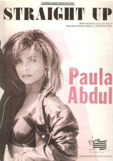Sheet Music Straight Up Paula Abdul 131