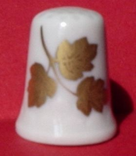 TCC Exquisite 24K Gold GOLDEN LEAVES Thimble W GERMANY Signed Johann