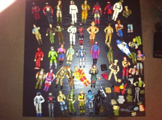 of 39 Vintage 1982 1988 Gi Joe Action Figures Accessories Parts