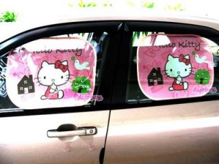 Kitty Auto Car Truck Side Window Shade Sunshade Visor Valance