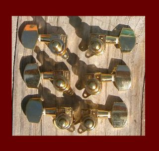 Gold Acoustic Guitar Tuning Keys Machine Heads Tuners 3 3 NEW in Box
