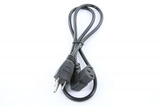 3ft right angle power cord computer printer monitor 3 prong ac power