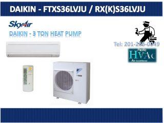 daikin ftxs36lvju rx k s36lvju wall mount 3 ton single zone heating