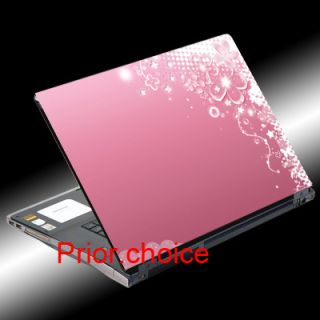 Pink Flowers Notebook Laptop Cover Skin Decal Sticker