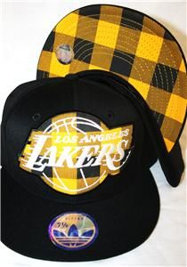 La Lakers Plaid Adidas Fitted Cap Hat New Style Just Released Low