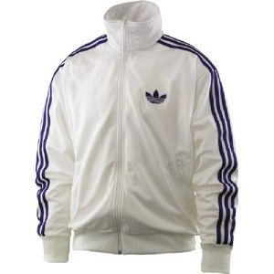 Adidas Originals Firebird Track Top Jacket XL WHITE (Royal Purple