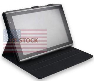 Leather Folio Cover Case 4 Acer Iconia Tab A500 w Angle