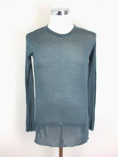 Haider Ackerman Mens Slate Blue Knit Shirt Sz 40 at Socialite Auctions