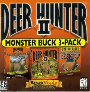 II 2 + Extended Season PC CD buck hunting gun shooting game + add on