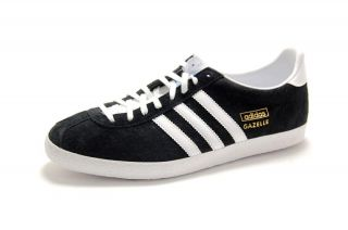 Adidas Mens Gazelle OG Black/White/Gold G13265