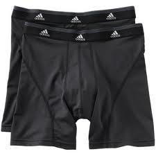 Adidas Climalite 2 pk Sport Performance Boxer Briefs Black L 24 Retail
