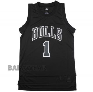 Bulls Derrick Rose XL Adidas Swingman Jersey NBA Chicago Black BABA