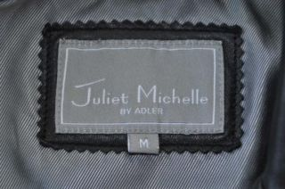 Juliet Michelle by Adler Lambskin Leather Jacket Black Pristine Medium