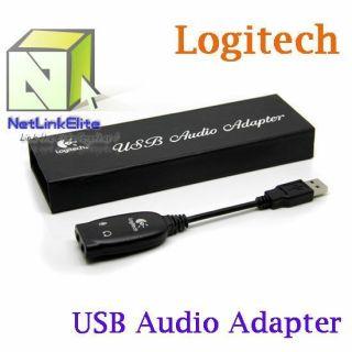 Logitech USB to 3 5mm Audio Adapter Jack Stereo Headset Mic Micphone