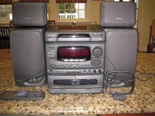 AIWA STEREO NSX 5200 STEREO WITH SPEAKERS ANTENNA AND REMOTE