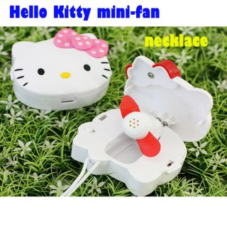 Hello Kitty Mini Fan Necklace Portable Cooling Air Cooler New