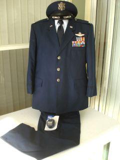 USAF Air Force Colonel Command Pilot Dress Blue Uniform