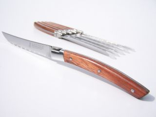 Laguiole Rosewood 6 Pcs Stainless Steel Steak Knives