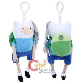 Adventure Time Finn & Jake Finn Clip On Plush Doll Key chain