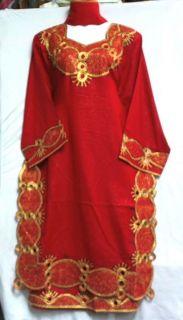 Women African Clothing Dress Skirt Suit Red Gold Black NotCom M L XL