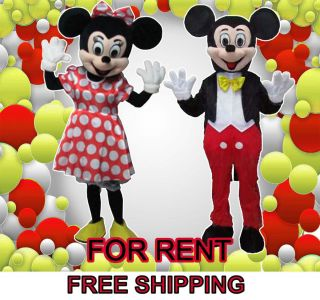 Friends of Minnie and Mickey Mouse Mascot Costume Adult Size For Rent