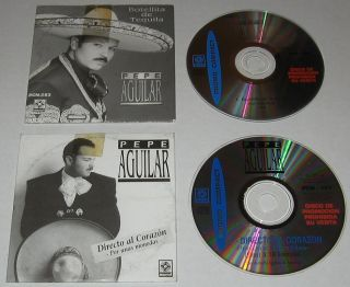Pepe Aguilar Por Unas Monedas Botellita Lot 2 Promo CD