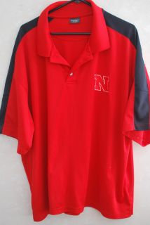 Nebraska Huskers/Ohio State Buckeyes Mens 3XL Red Polo T Shirt   NCAA